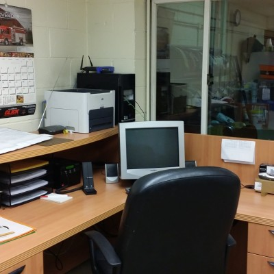 This is the radio room at Clifton Station. It serves as the radio base station for Clifton Station, and also is a place where paperwork and reports can be completed.